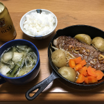 19cm の「ニトスキ(ニトリのスキレット)」で大きめのステーキを焼いてみました!