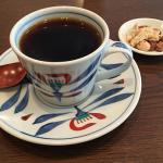 田無の喫茶店「めだか珈琲」で炭焙煎のコーヒー豆を挽いた「グァテマラ」を淹れていただく