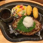 ハンバーグレストラン「びっくりドンキー」吉祥寺店でランチメニュー「おろしそバーグステーキセット」