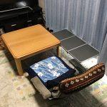 座椅子でテレビ視聴に便利なサイドテーブル(折りたたみミニテーブル 90×40cm QC-3FT90)を購入!