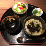 吉祥寺の赤身焼肉「寿香苑 あかつき」のランチで牛肉版ひつまぶし「絶品牛まぶし」をいただく