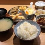 「日本橋天丼 金子屋」が同ビル 1階に拡げた「天ぷらめし 金子屋」で晩ごはん