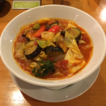 「麺Dining セロリの花 吉祥寺店」の「6種類の野菜ときのこの無添加トマトスープ麺」で満足ランチ