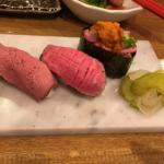 11月30日まで開店特典があるという「吉祥寺 肉寿司」で馬肉や牛肉のお寿司をいただきました