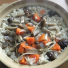 具だくさんの「炊き込みご飯」も 1人用土鍋でほっこりおいしく料理できました!