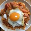 ケチャップも使った「ナポリタン」みたいなトマトソーススパゲッティに挑戦