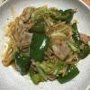 「野菜炒め」と「肉もやし炒め」のレシピを合わせて「肉野菜炒め」に挑戦