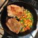 「ニトスキ(ニトリのスキレット)」で鶏肉の皮に焼き目の付いた「チキンソテー」に挑戦
