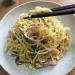 生クリームと「ディチェコ」のスパゲッティーニを買って「カルボナーラ」に再挑戦!