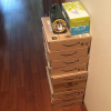 【断捨離】サイドテーブル代わりに積んでいたアマゾンの段ボール箱にさようなら!