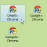 Google Chrome でユーザー別デスクトップショートカットを作成、タスクバーにピン留めで一発切り替え